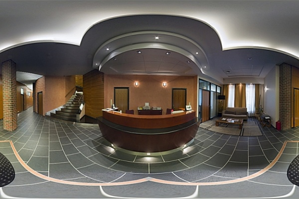 The entrance to the Central office view reception